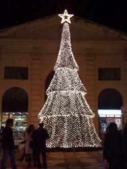 Chania market Xmas tree