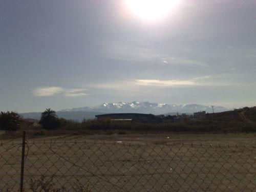 The brilliant white mountains